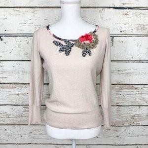 Size Small Karen Nicol BellaDonna Floral Sweater